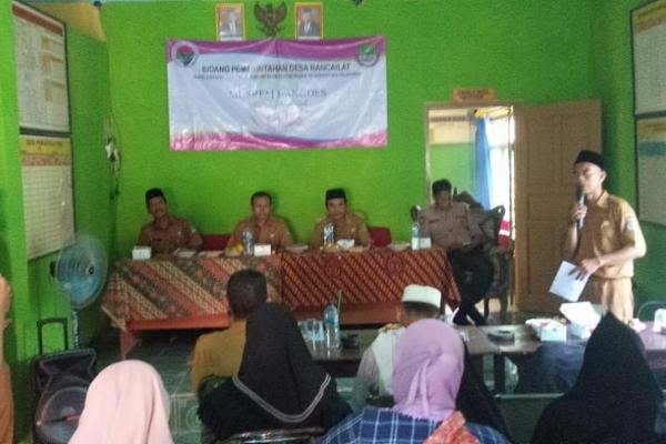 Desa Rancailat Kecamatan Kresek Menggelar Kegiatan Musrenbang Tingkat Desa Tahun 2020